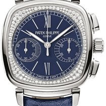 Patek Philippe Chronograph White gold 35mm Blue United States of America, New York, Brooklyn