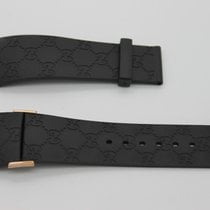 Gucci 26mm Genuine Replacement Strap Mens Black Gucci G With...