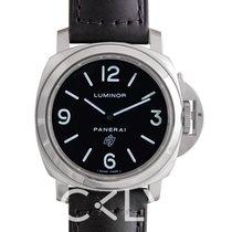 Panerai Luminor Base Logo Acciaio Black Steel/Leather 44mm -...