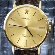 Rolex Cellini 18K Yellow Gold Rare Original Buckle & Strap -...