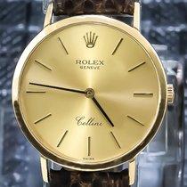 Rolex 32mm Handopwind tweedehands Cellini (Submodel) Goud