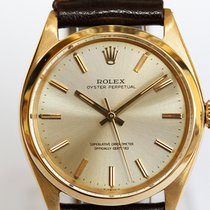 Rolex Oyster Perpetual 34 gebraucht 35mm Gelbgold