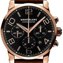 Montblanc Rose gold Automatic Black Arabic numerals 43mm new Timewalker