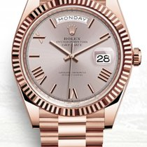 Rolex Red gold Automatic Silver 40mm new Day-Date 40