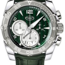 Parmigiani Fleurier Pershing Steel 45mm Green Arabic numerals United States of America, New Jersey, Princeton