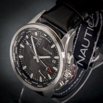 Nautica new Quartz Center Seconds Chronometer Limited Edition Screw-Down Crown Only Original Parts World time watch 40mm Steel Mineral Glass