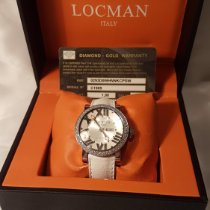 Locman Toscano pre-owned cassa 30mm Silver Date Weekday Leather