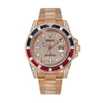 Rolex GMT-Master II Rose gold Transparent No numerals United States of America, New York, New York