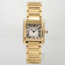 Cartier Tank Française Yellow gold 20mm Silver Roman numerals United States of America, California, Sherman Oaks