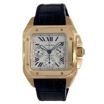 Cartier Santos 100 Жёлтое золото 42mm Cеребро Римские