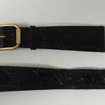Philip Watch leather strap black mm 19 with gold plated buckle...