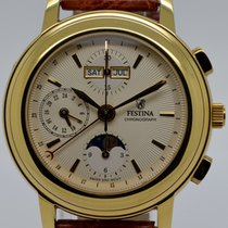 Festina Chronograph 42mm Automatic 2012 pre-owned Champagne