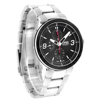Oris TT1 Mens Black Bezel Swiss Automatic Chrono Watch...