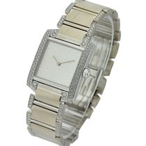 Cartier tknfransilver Mid Size Tank Francaise with Diamond...