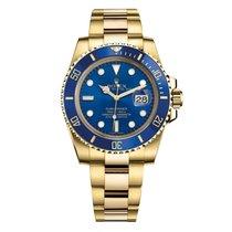 Rolex Submariner Date 18K Yellow Gold Blue Dial/Bezel