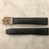 Omega Vintage Black Leather Strap with Buckle