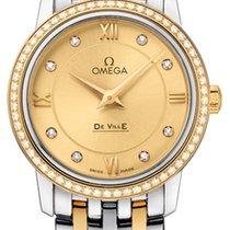Omega De Ville Prestige Acero y oro 27.4mm Champán Romanos
