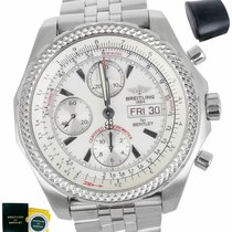Breitling Bentley GT pre-owned 44.8mm White Chronograph Steel