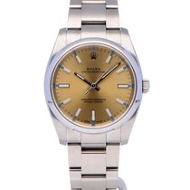 Rolex Oyster Perpetual 34 Staal 34mm Champagne Geen cijfers Nederland, Amsterdam