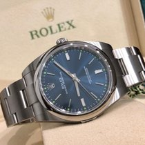 Rolex Oyster Perpetual 39 Steel 39mm Blue No numerals