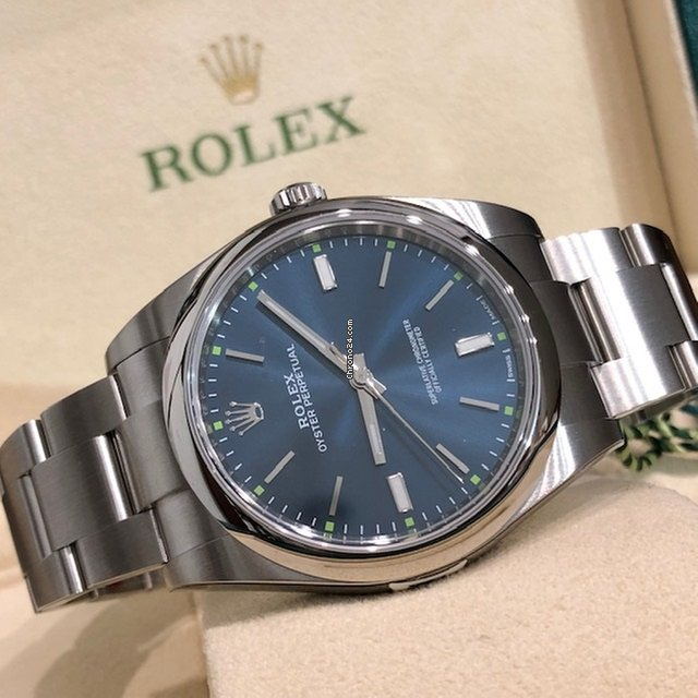 Rolex Oyster Perpetual 39 Ref 114300 Blue Dial 39 mm NEW 2018