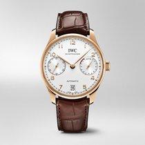 IWC Rose gold Automatic Silver Arabic numerals 42.3mm new Portuguese Automatic