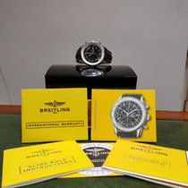 Breitling Navitimer World Acier 46mm Noir Sans chiffres
