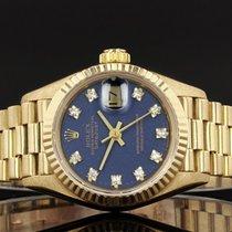Rolex Lady-Datejust Oro amarillo 26mm Azul