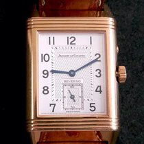 Jaeger-LeCoultre Or rose Remontage manuel Argent Arabes 26mm occasion Reverso Duoface