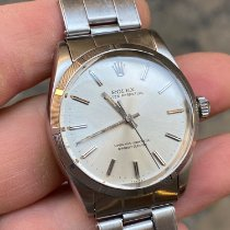 Rolex Oyster Perpetual 34 34mm Silver No numerals