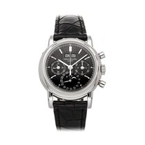 Patek Philippe Perpetual Calendar Chronograph 3970E Very good Platinum 36mm Manual winding