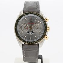 Omega Speedmaster Professional Moonwatch Moonphase Acero y oro 44.2mm Gris Sin cifras