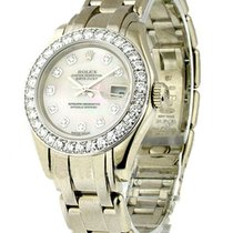 Rolex Used 80299 Ladys White Gold Masterpiece 80299 - 32...