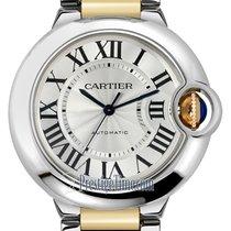 Cartier Ballon Bleu 36mm Zlato/Zeljezo 36mm Srebro