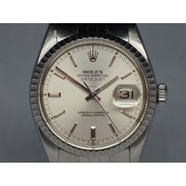 Rolex Oyster Perpetual Datejust 16030 Engine Turned Bezel 36mm
