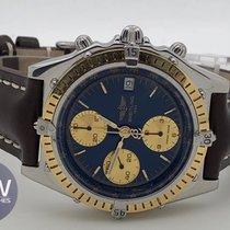 Breitling Chronomat Blu dial gold bezel