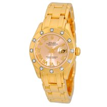 Rolex 29mm 18K Yellow Gold Diamond Masterpiece Pearlmaster...