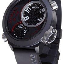 Welder by U-Boat K32 Triple Time Zone Black Ion-Plated Steel...