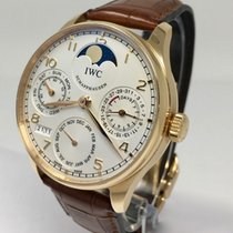 IWC Portuguese Perpetual Calendar Silver Dial on Strap IW502213