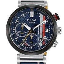 Pulsar ny Kvarts Centrale sekunder Limited Edition Selvlysende indeks Solarure 44mm Stål