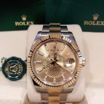 Rolex Sky-Dweller Золото/Cталь 42mm Золотой Без цифр