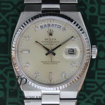 Rolex Day-Date Oysterquartz Witgoud 36mm Zilver