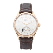 Rolex Cellini Dual Time Rose gold 39mm Silver No numerals United States of America, Pennsylvania, Bala Cynwyd