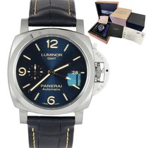 Panerai Luminor 1950 pre-owned 44mm Blue GMT Buckle