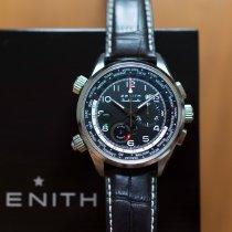 Zenith El Primero Doublematic Stahl 45mm Schwarz Arabisch