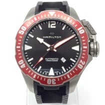 Hamilton Khaki Navy Frogman pre-owned 46mm Black Date Rubber