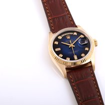 Rolex Day-Date 36 18038-red-vig-leather 1985 pre-owned