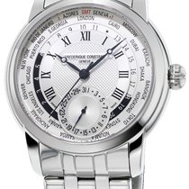 Frederique Constant Manufacture Worldtimer Steel Silver United States of America, New York, Brooklyn