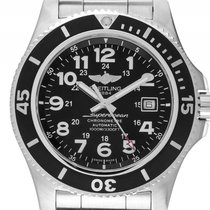 Breitling Superocean II Stahl Automatik Chronometer Armband...