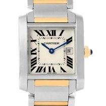 Cartier Tank Francaise Midsize Steel Yellow Gold Quartz Watch...